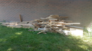 Free 2x4, 2x6 and various lengths Lumber