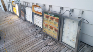 MENU BOARDS AND CUP DISPENSERS
