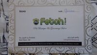 $100 Fetch gift certificate for $80