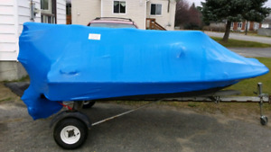 Speed boat with trailer  10ft