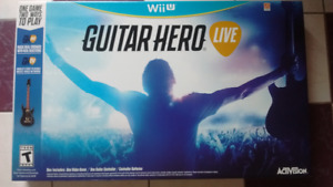 Guitar Hero Live Bundle Nintendo Wii U BRAND NEW