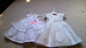 Baby girls clothes, bathtub, dresses etc