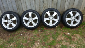 205/50 R17 General Evertrek Tires on Mazda3 rims