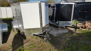 Large Assortment of Small Enclosed Cargo Trailers in Stock
