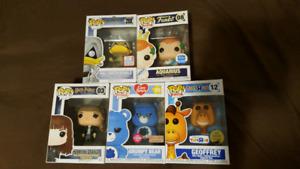 Geoffrey, Donald, Grumpy funko pops