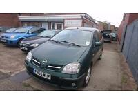 2005 / 55 Nissan Almera Tino 1.8 SE 5 Door Full MOT+Warranty+AA Cover