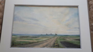 Original watercolour prairie scene