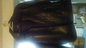 Men and women's leather coats