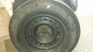 For Sale 235/70/16 X-ice & steel rims