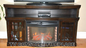 TV Console with fireplace