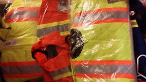 High visibility work jackets and coveralls