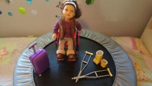 """18"""" Doll with travelcase and wheelchair set"""