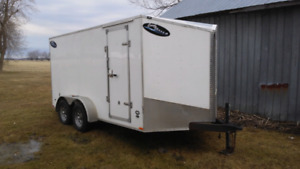 2016 7x14 v nose enclose trailer