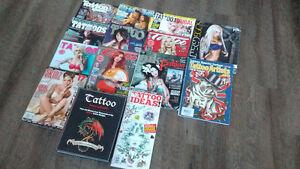 Bunch of Tattoo Magazines
