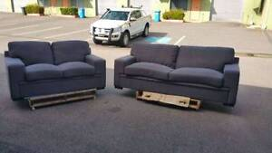 2 PIECE GREY FABRIC LOUNGE SUITE  in Yarrawonga NT Yarrawonga Palmerston Area Preview