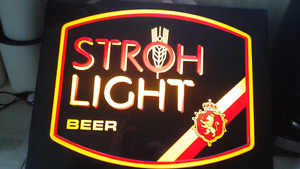 STROH LIGHT BEER sign