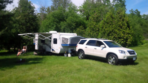 Travel trailer RENTAL.  23 foot hybrid with 2 queen beds
