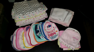 Baby bibs and blankets