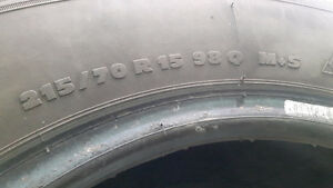Set of 4 Michelin X Ice 215/70 R15 98Q Mud and Snow
