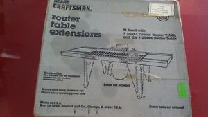 Craftsman Router Table Extensions