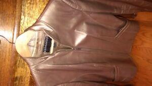 womens leather jacket. bomber style
