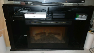 Tv stand with furnace
