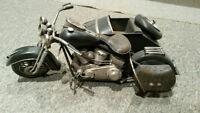 Harley Davidson avec side car modèle réduit