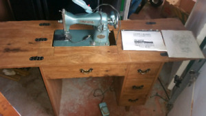 Sewing Machine With Stool