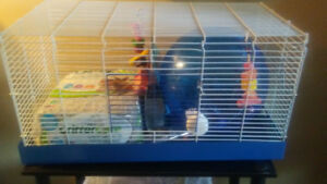 Gently used rat cage for sale bedding food& etc