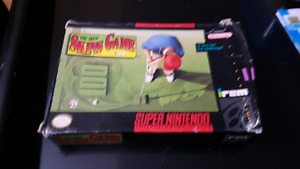 Skins game super nes golf game with box