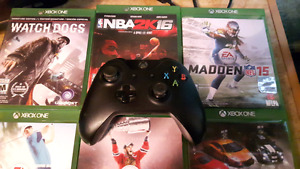 Xbox One console 500GB with 6 games