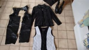 Ladies Genuine Leather Custom Made for Motorcycle or Fashion