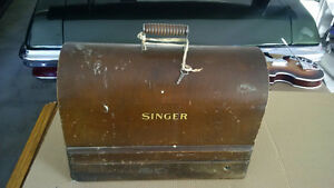 1920's Singer Bentwood Portable Sewing Machine With Knee Bar