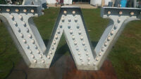 Vintage lighted letters. Extra large