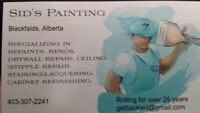 Sid's Painting Established in 1994 . 403-307-2241