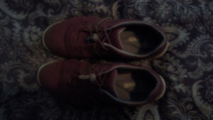 Burgundy Clarks shoes