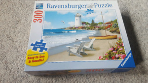 300 pc. Ravensburger lighthouse jigsaw puzzle