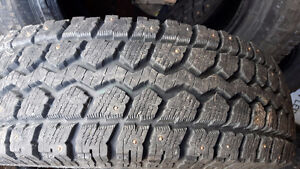 Excellent condition winter studded tires!