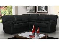 Brand new* Candy chocolate brown, black, cream or red 2+3 seater sofa set OR corner sofa