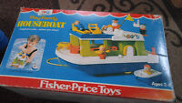 fisher price play family house boat, original box