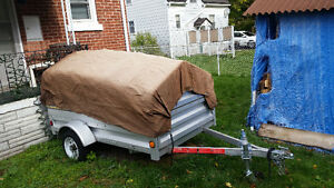 utility trailer with custom roof & encloser. Stratford Kitchener Area image 2