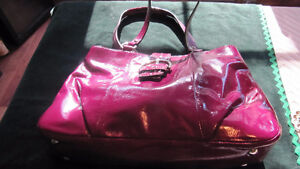 Coach large fushia patent leather purse- excellent