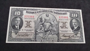 1935 Banque Canadienne Nationale Ten Dollars Dix Banknote