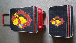 Winnie the Poo Matching Suitcase and Carry like new!