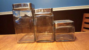 Square Glass Storage Containers