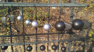 Downrigger balls and fishing sinkers