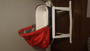 UPPAbaby Vista Red Bassinet and Jolly Jumper Stand- BARELY USED!