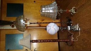 Lot de lampes antique 150$ pour les 4 ensemble peut vendre sépar