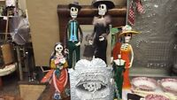 GRANDMAS ANTIQUES...Day of the Dead items...
