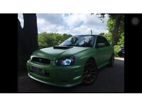 Subaru Impreza wrx 2.0 turbo green monster